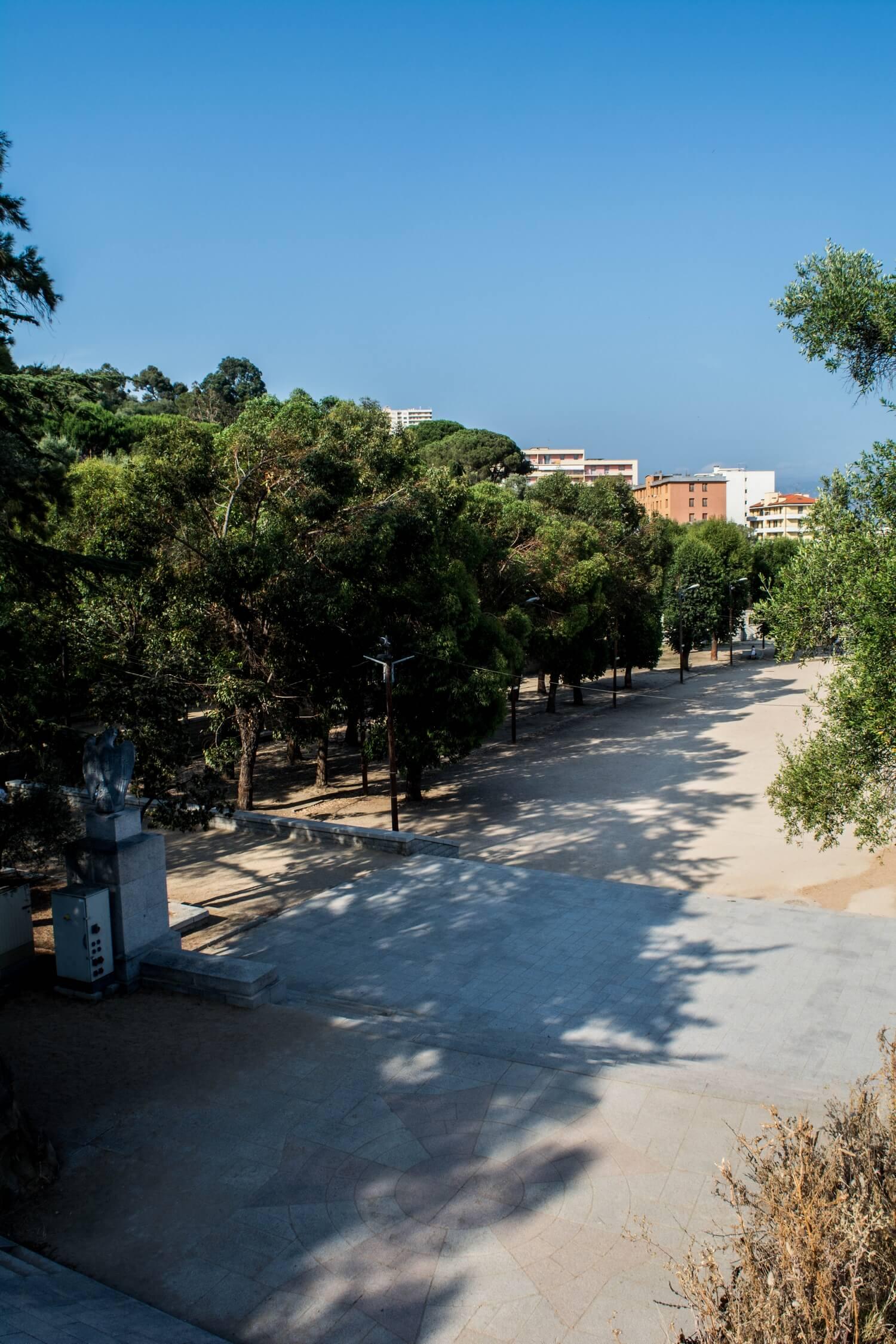 Place d'Austerlitz (dit du Casone) à Ajaccio en Corse-du-sud