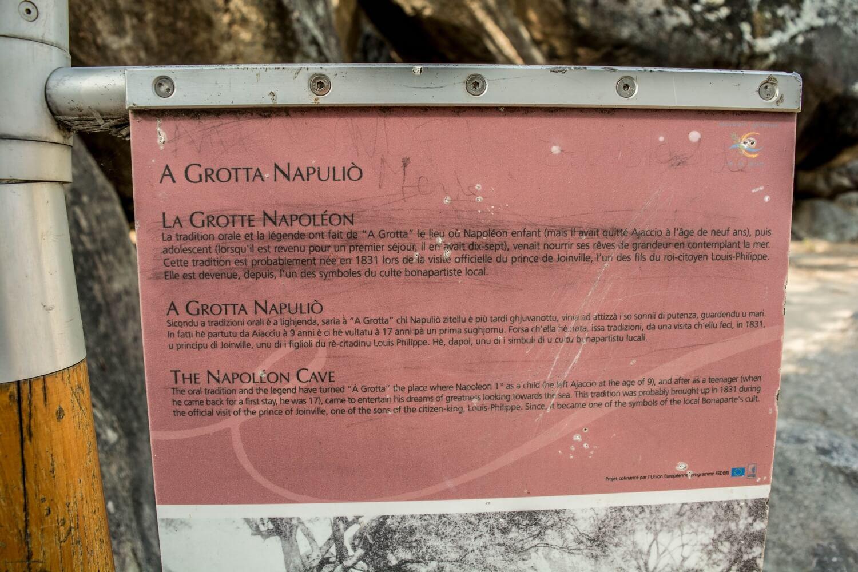 La grotte de Napoléon à Ajaccio (Corse-du-sud)