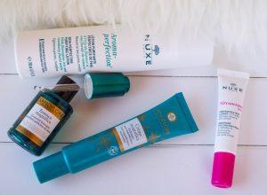 Ma skincare routine de l'été avec Shop-Pharmacie et de produits Sanoflore et Nuxe   happinesscoco.com