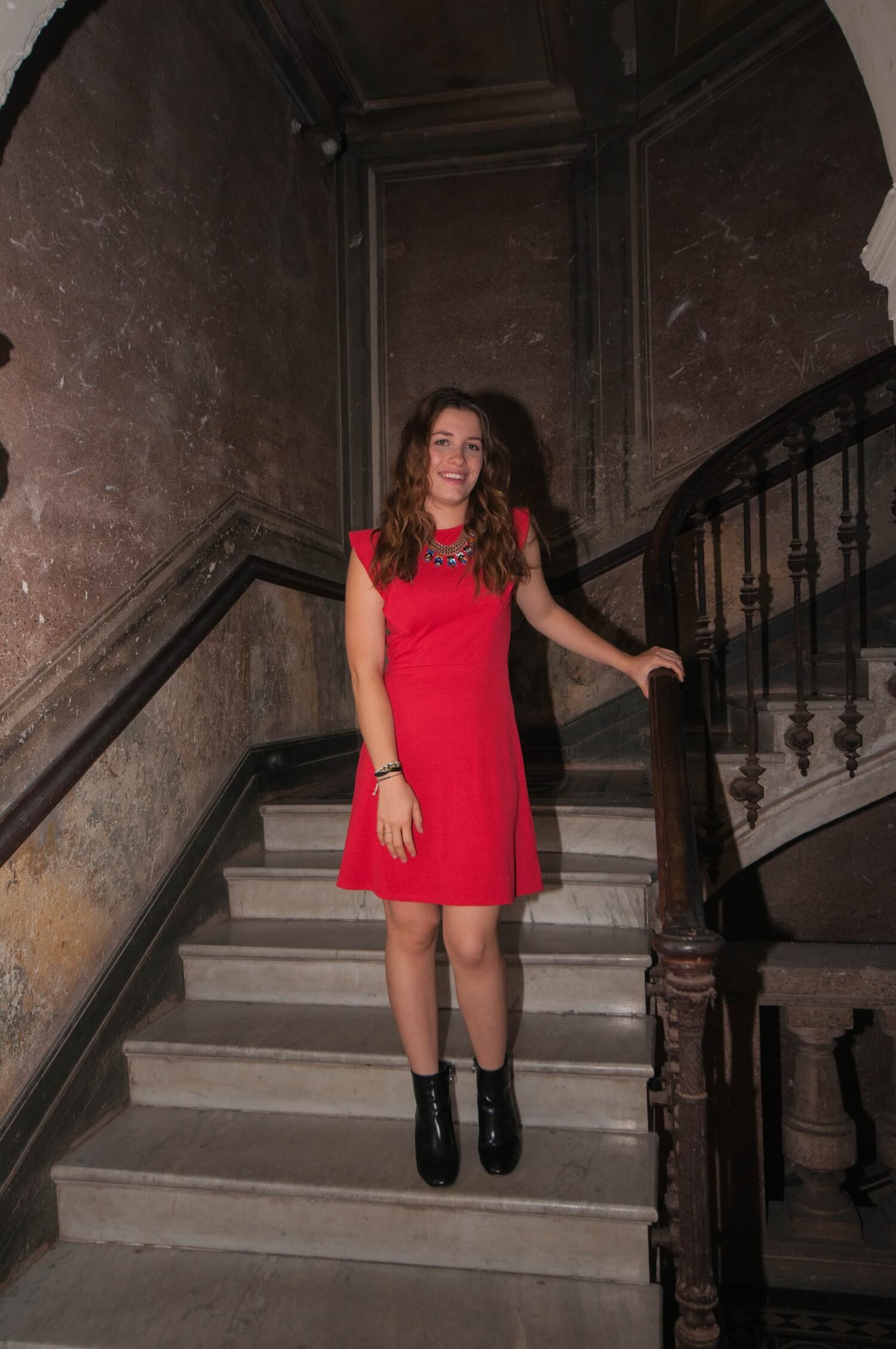 New #look on happinesscoco.com !!! | Red Dress Pimkie | #style #outfit #corse