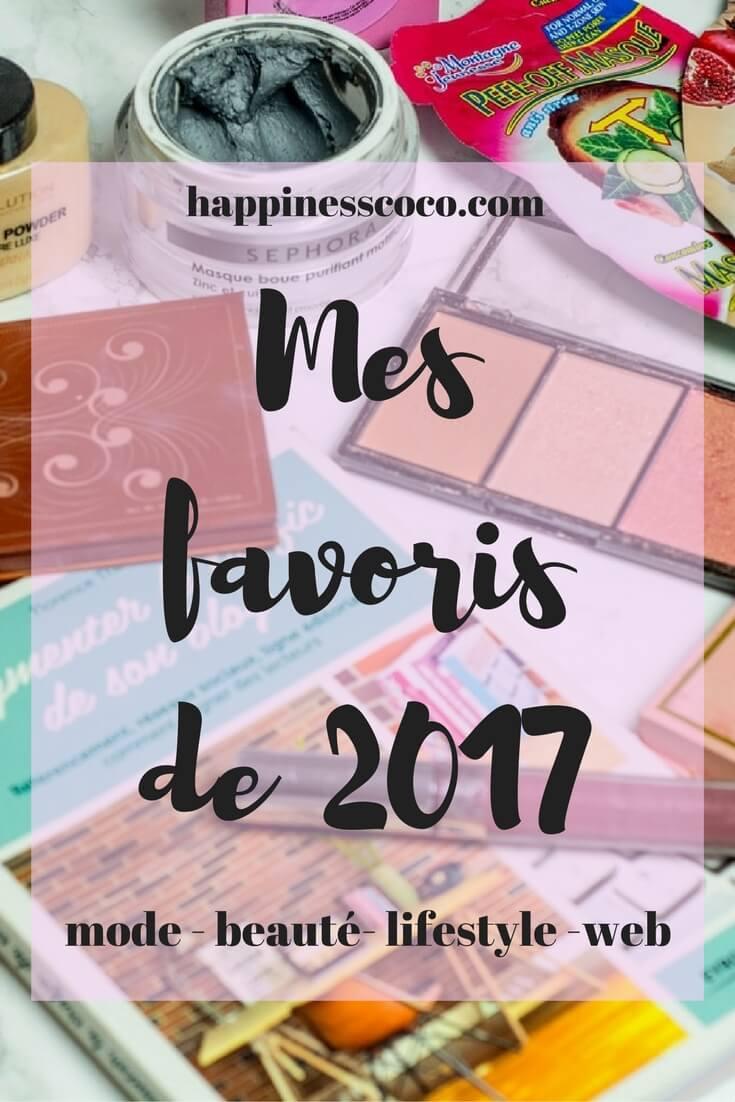 Mes favoris de l'année 2017, mode, beauté, lifestyle, random, food, musique, web,... | happinesscoco.com