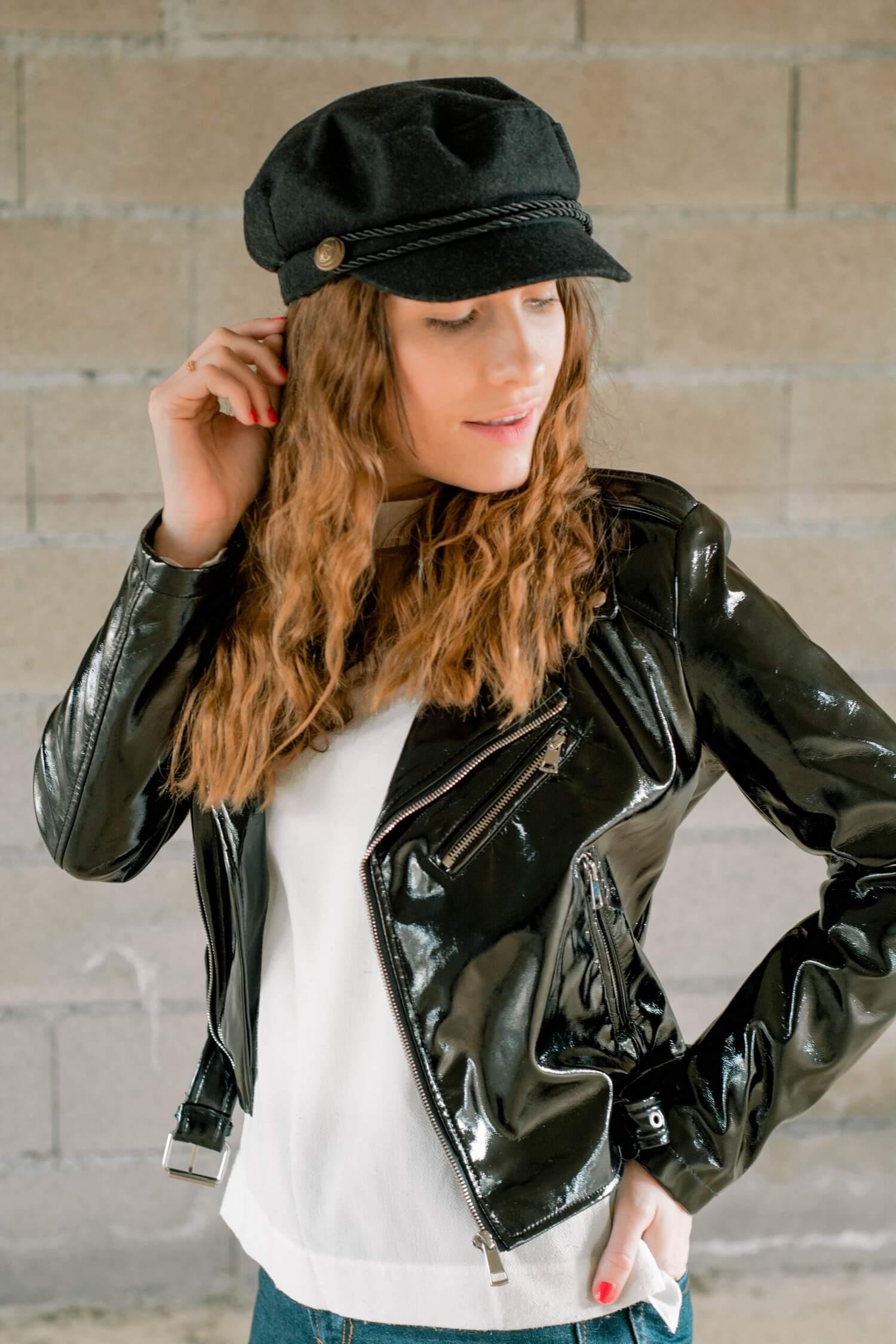 Un nouvelle tenue avec mo nouveau perfecto en vinyle Pimkie que j'ai trouvé en soldes sur Asos | happinesscoco.com