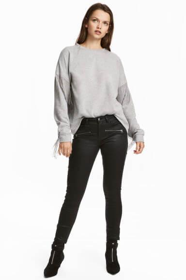 H&M Pantalon enduit