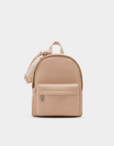 Pull and Bear Sac à dos urbain rose