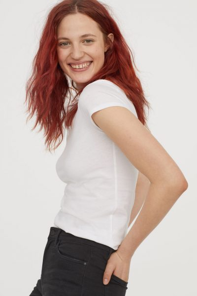 H&M CONSCIOUS T-shirt blanc