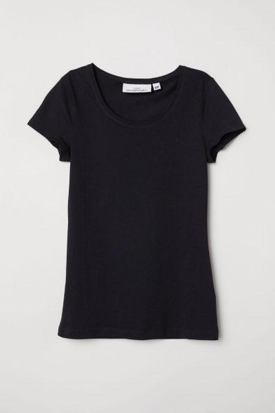 H&M CONSCIOUS T-shirt noir