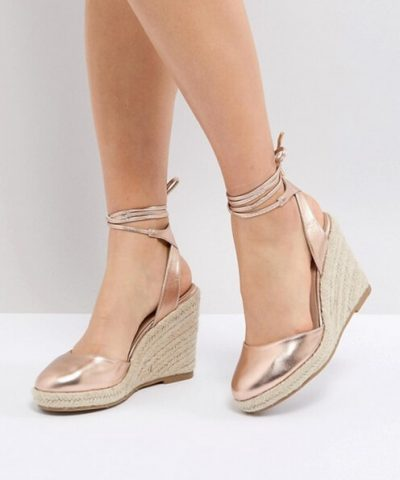 ASOS – JUICIEST – Chaussures compensées style espadrilles
