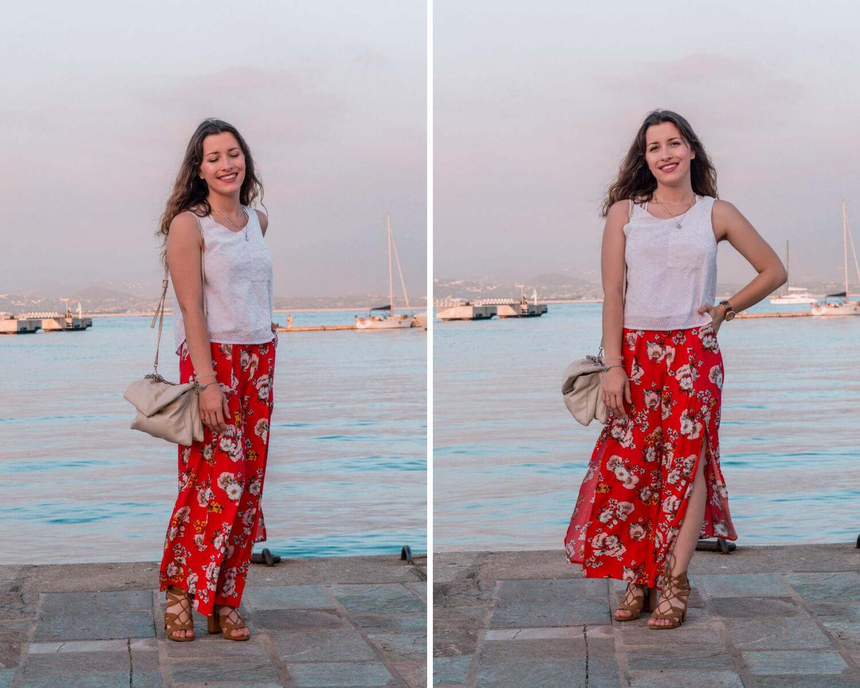 Nouvelle tenue en ligne sur mon blog. Je porte mon pantalon rouge Undiz avec un crop top Tally Weijl et des talons Bershk. Mon sac vient de chez Mango | happinesscoco.com