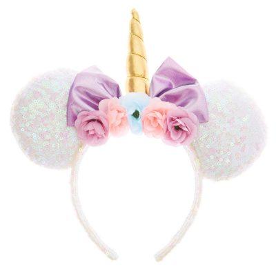 Claire's Serre-tête oreilles de Minnie Mouse Disney© avec sequins blancs