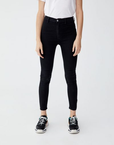 Pull and Bear Jean taille haute sans poches