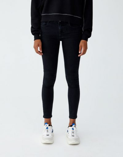 Pull and Bear Jean coupe skinny taille basse