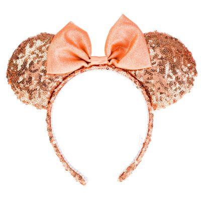 Claire's Serre-tête oreilles de Minnie Mouse de Disney©avec oreilles à sequins couleur doré rose