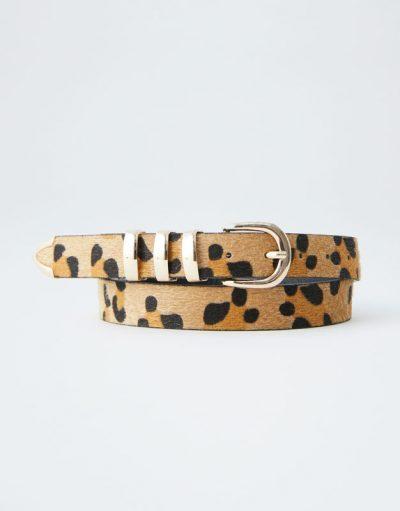 Pull and Bear Ceinture imprimé léopard