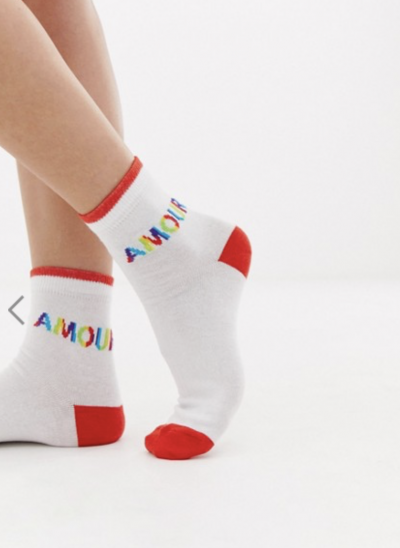 ASOS DESIGN – Amour – Chaussettes avec inscription