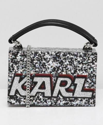 Asos Karl Lagerfeld – Sac minaudière à paillettes avec logo