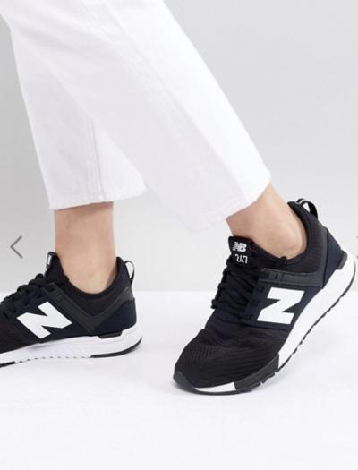 Asos New Balance – 247 – Baskets en maille – Noir et blanc