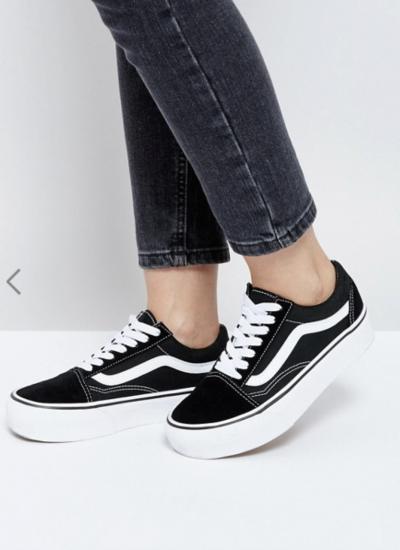 Asos Vans – Old Skool – Baskets à semelle plateforme – Noir et blanc