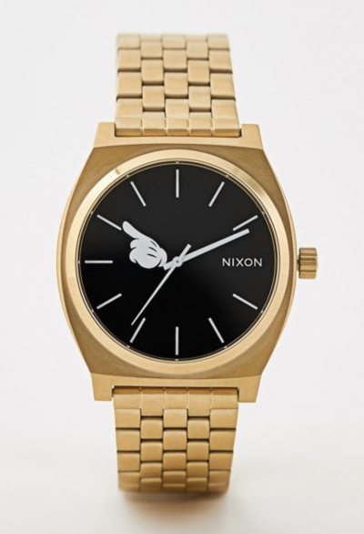Asos Nixon X Mickey Mouse – Time Teller – Montre – Dorée