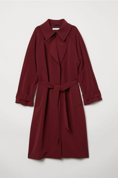 h&m Trench-coat rouge