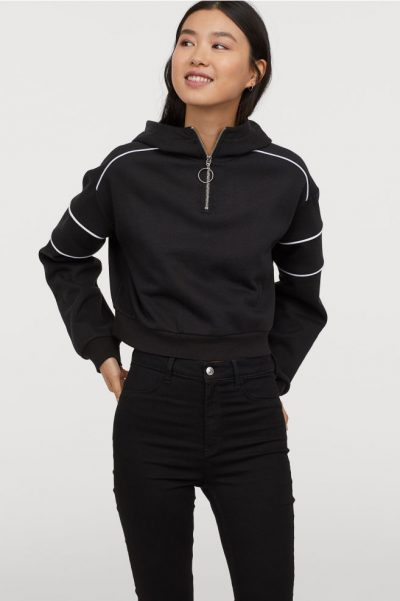 h&m Sweat à capuche avec zip