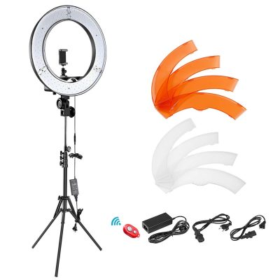 Amazon Neewer Ring Light Anneau Lumineux 36cm LED SMD 5500K 36W Lumière Anneau Réglable Kit Eclairage avec Pied de 155cm pour Photo Studio Vidéo