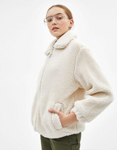 Bershka Blouson ample en mouton synthétique