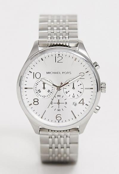 Asos Michael Kors – MK8637 Merrick – Montre-bracelet chronographe – Argent 42 mm