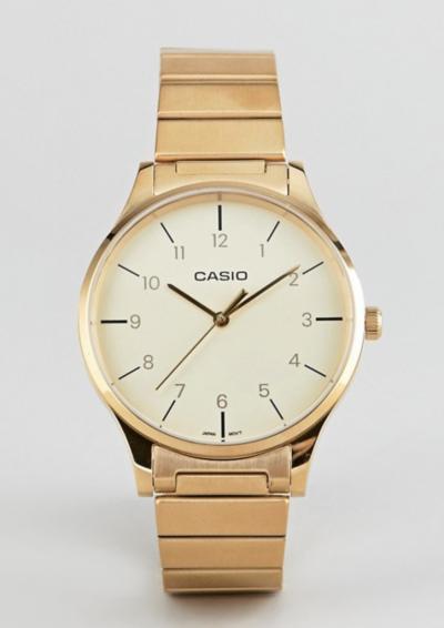 Casio – Montre-bracelet analogique style vintage – Doré