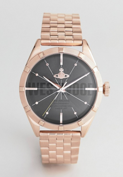 Asos Vivienne Westwood – VV192BKRS Conduit – Montre-bracelet – Or rose