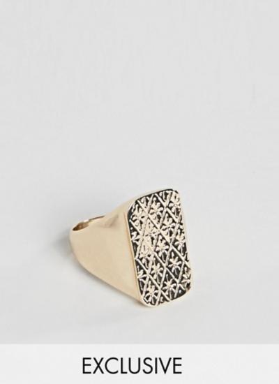 Reclaimed Vintage – Inspired – Chevalière – Doré – Exclusivité ASOS
