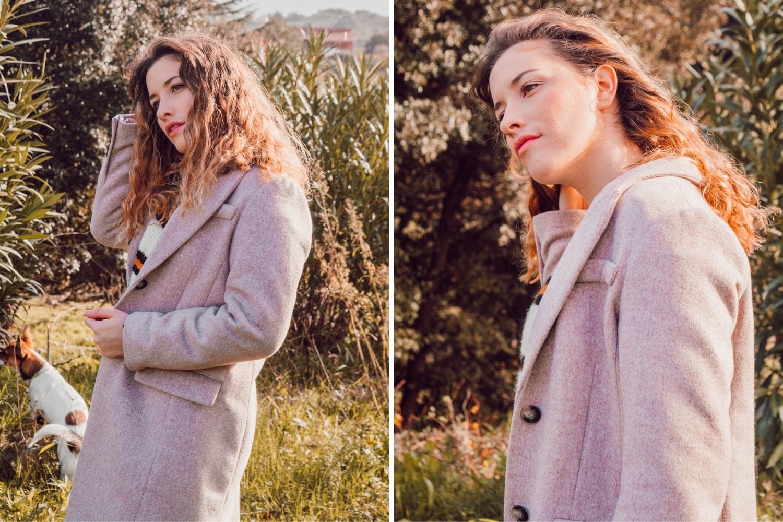 Nouvelle tenue style 90's avec mon pull en laine oversize Primark et ma jupe Pimkie ainsi que mon long manteau H&M - HappinessCoco.com