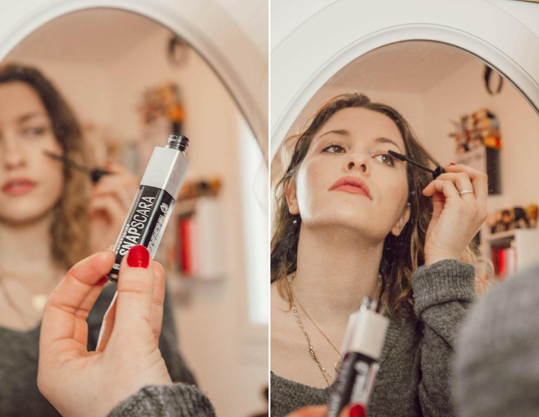 Revue sur le Snapscara : Le premier mascara sans cire qui se démaquille à l'eau by Maybelline New York - happinesscoco.com