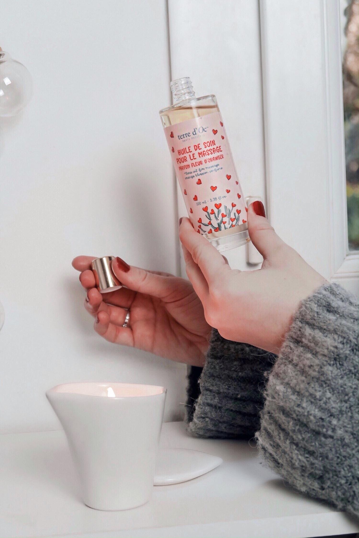 Revue sur le nouveau kit pour la Saint Valentin de la marque Terre d'Oc et vendu dans les boutique Nature et Découvertes. Un véritable moment de détente - happinesscoco.com