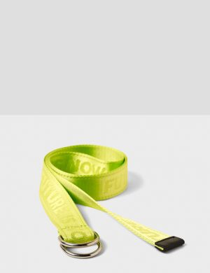 Jennyfer ceinture future is now jaune fluo jaune fluorescent dupe off white