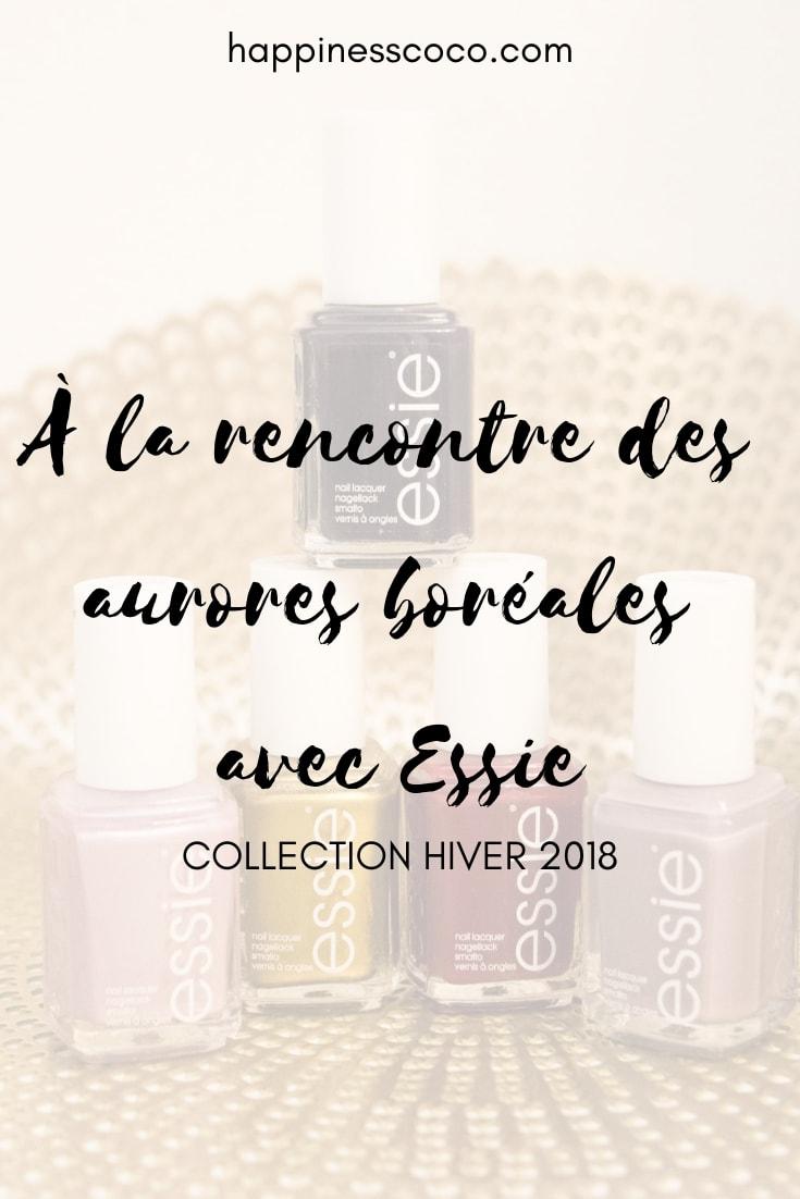 Revue sur la collection hiver 2018 de vernis à ongles Essie inspirée des aurores boréales - happinesscoco.com