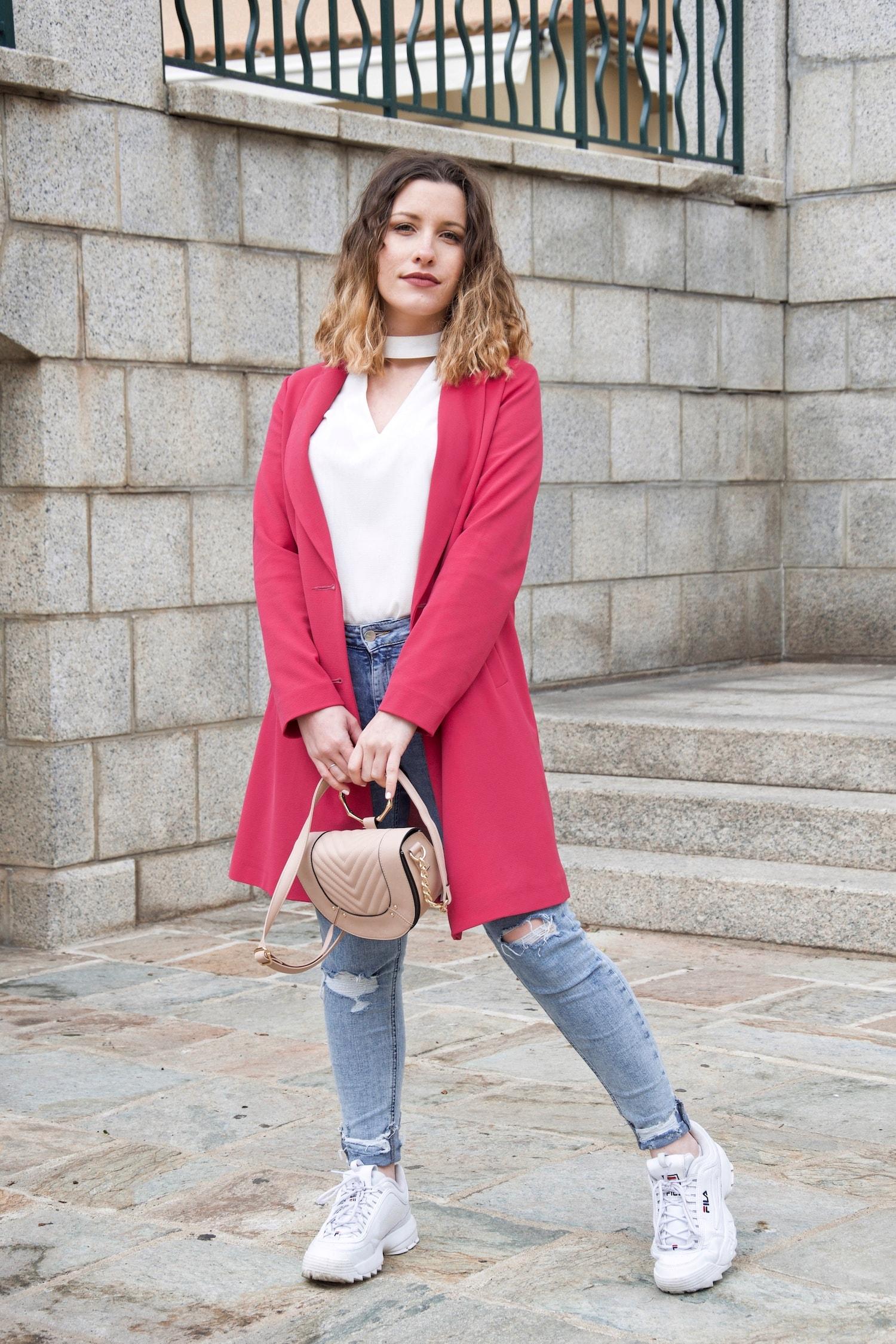 Nouveau look avec ma veste longue rose fluo Primark - happinesscoco.com
