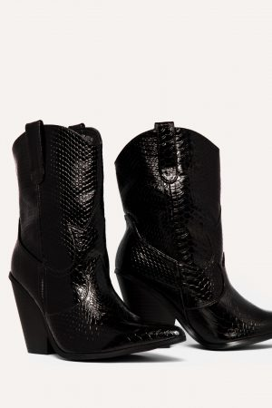 Loavies SNAKE PRINT COWBOY BOOTS