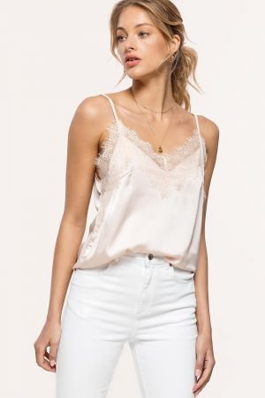 MUST BE LOVED – BEIGE LOAVIES LACE TOP
