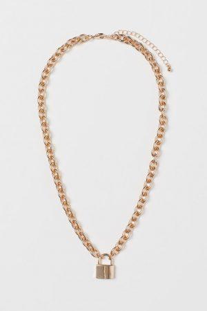 H&M Collier avec pendentif cadenas