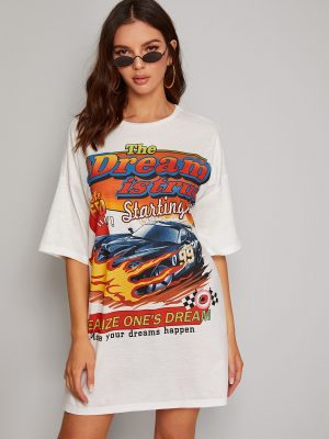 SHEIN Robe t-shirt à imprimé