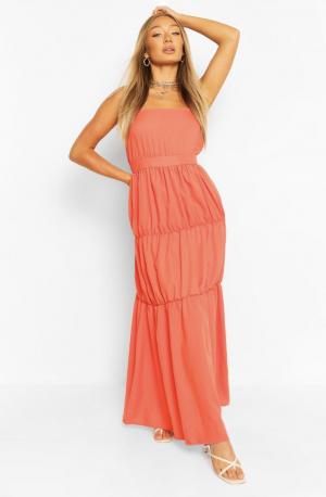 Boohoo  Tiered Strappy Maxi Dress