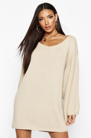 Boohoo Robe pull oversize avec manches amples