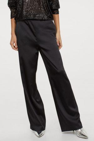 Pantalon ample en satin