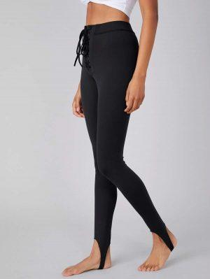 MOTF PREMIUM Pantalon en nylon à lacets