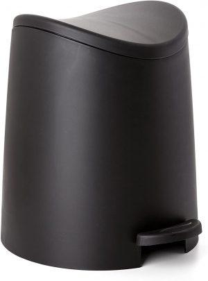 TATAY Poubelle de Salle de Bain Standard en Plastique et polypropylène Moderne 19×22.1×0.41 cm Noir