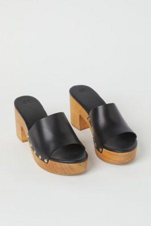 H&M Sandales avec talon en bois
